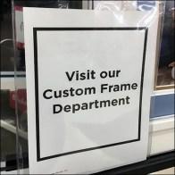 Custom-Framing Cross-Sell Easel