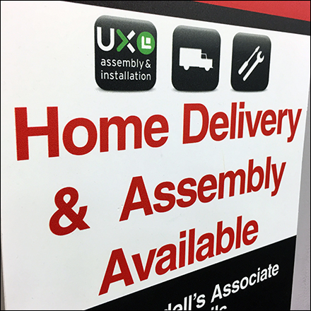 Home Delivery and Assembly Available