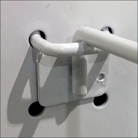 Perforated-Metal Pegboard Hook Retrofit