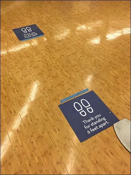 CoronaVirus Distancing Floor Graphic Style