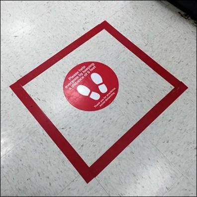 CoronaVirus Squaring-the-Circle Floor Graphic