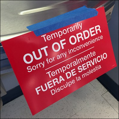 CoronaVirus Water Fountain Out-of-Order Notices