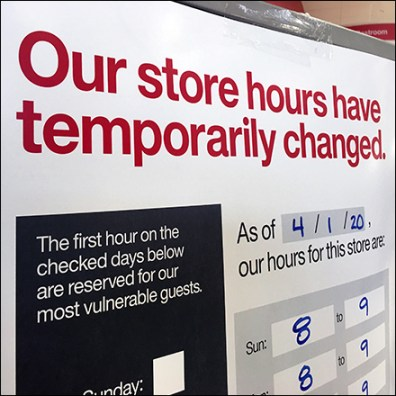 CoronoVirus Temporary Store-Hours Change Sign