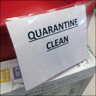 CoronaVirus Quarantined Item Bulk Bin