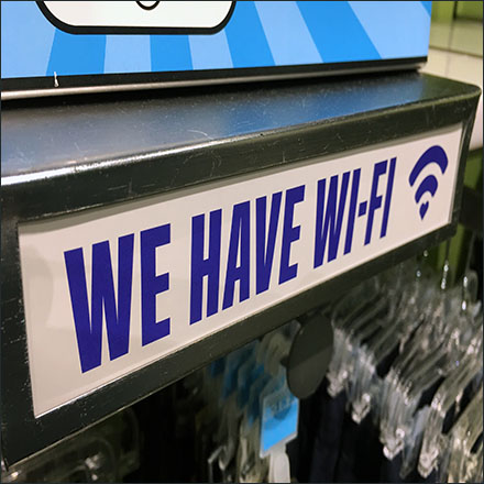 We Have WiFi Shelf Overlay Feature