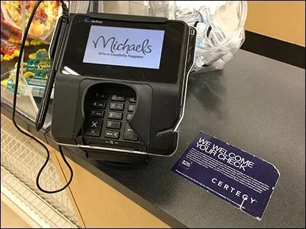 Checks Welcome Cashwrap Notice