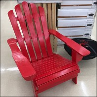 Barn-Red Rustic Adirondack Chair Merchandising