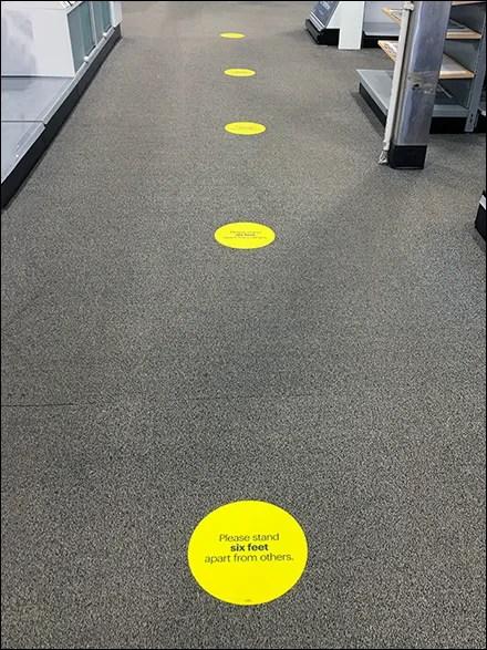 CoronaVirus Social Distancing Carpet Graphic