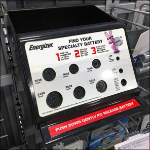 Energizer Bar-Mount Specialty Battery Finder