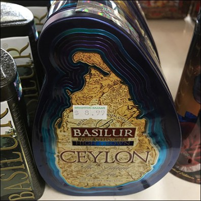 Island-Shaped Ceylon Tea Tin