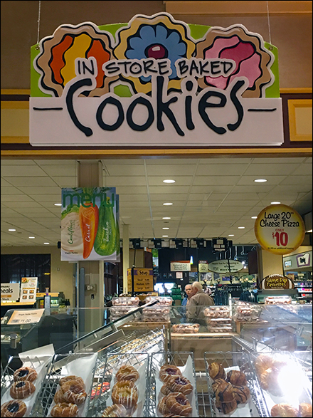 Colorful In-Store-Baked Cookies Signage