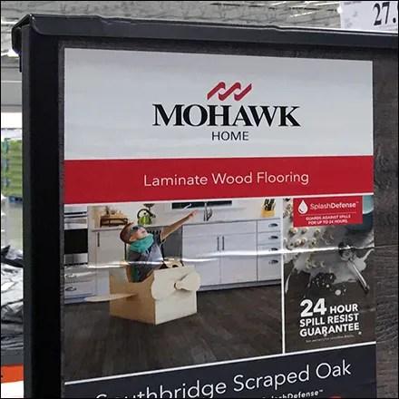 Mohawk Wood Floor Pallet Display