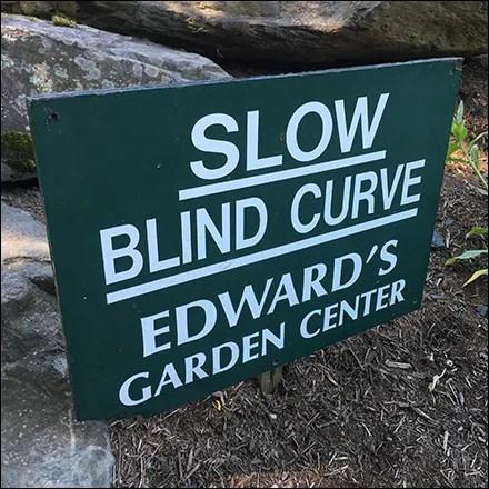 Garden Center Branded Blind Curve Sign