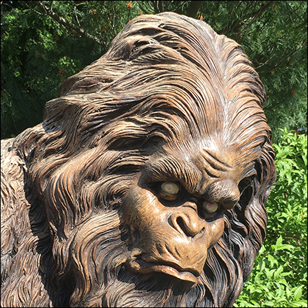 Garden Center Bigfoot Statue Staging