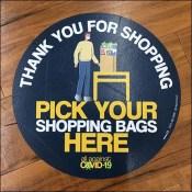 CoronaVirus Pick-Up-Bag-Here Floor Graphic