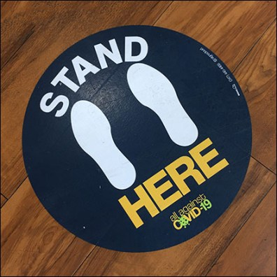 CoronaVirus Stand-Here Service-Counter Floor Graphic