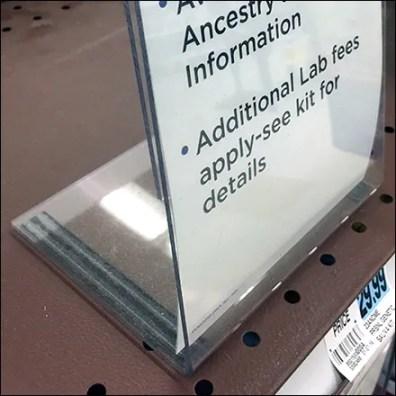 DNA-Test Magnetic Shelf-Top Sign