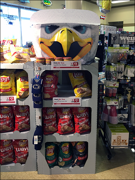 Lay's Eagle Potato Chip Display