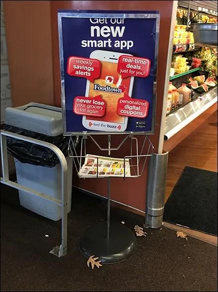 Foodtown Smart App Benefits Sign