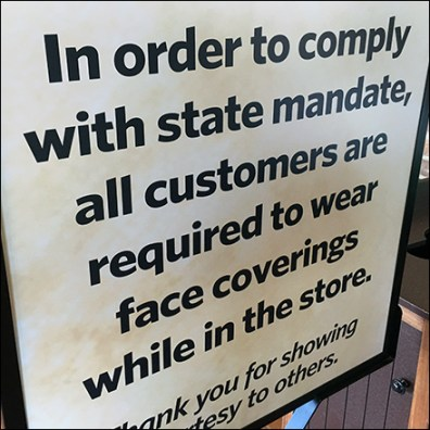 CoronaVirus State-Compliance Face Mask Sign