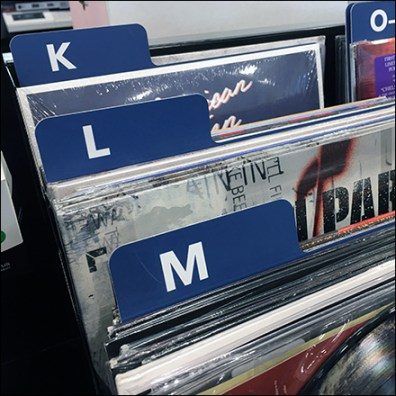 Vintage-Vinyl Tabbed Category Management