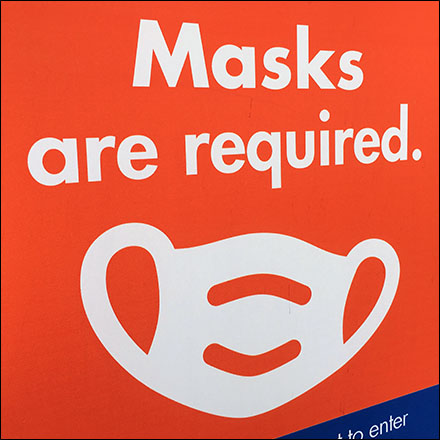 CoronaVirus Face Masks Required Decal