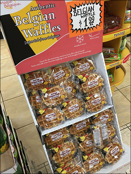 Authentic Imported Belgian Waffle Display