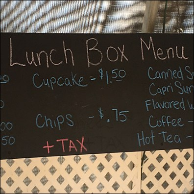 Hand-Lettered Chalkboard Lunch Menu