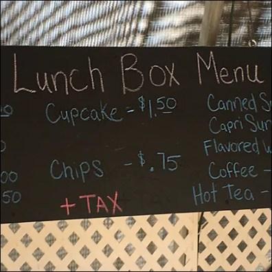 Hand-Lettered Chalkboard Lunch Menu