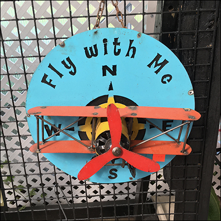 Fly-With-Me Vintage Aviation Sign