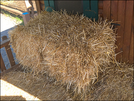 Do-Not-Open Hay Bales Warning Sign