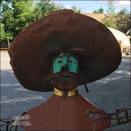 Industrial-Chic Hispanic Garden Statuary