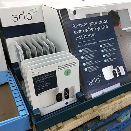 Arlo Answer-Door-Bell Pallet Display
