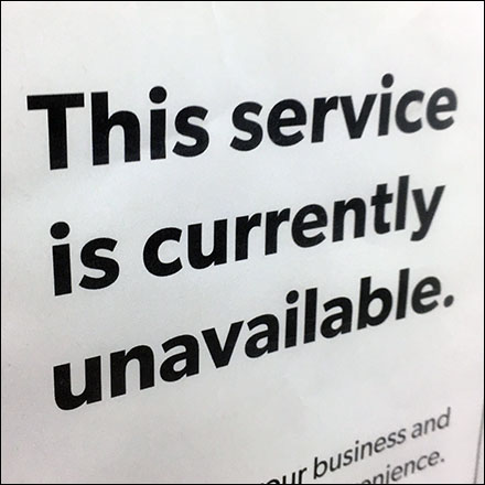 CoronaVirus Services Currently Unavailable