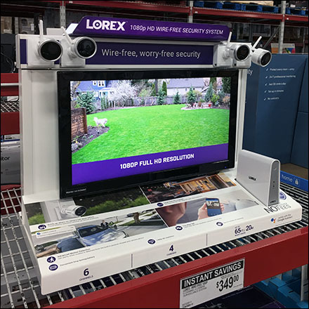 Lorex Security Camera Pallet-Rack Display