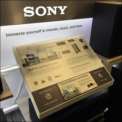 Sony Immersive-Sound Speaker Display