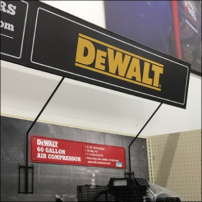 DeWalt Super-Duty Sign Arm Backplate