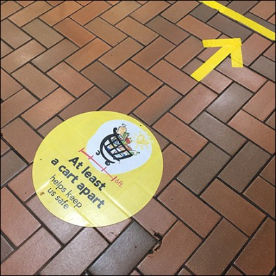 CoronaVirus Tow-the-Line Floor Graphics