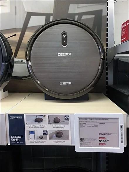 Deebot Robot Shelf-Display Merchandising