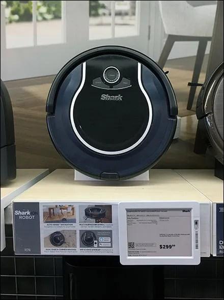 Shark Robot Shelf-Display Merchandising