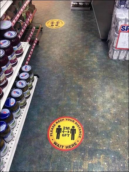 CoronaVirus Ethnic Social-Distancing Floor Graphic