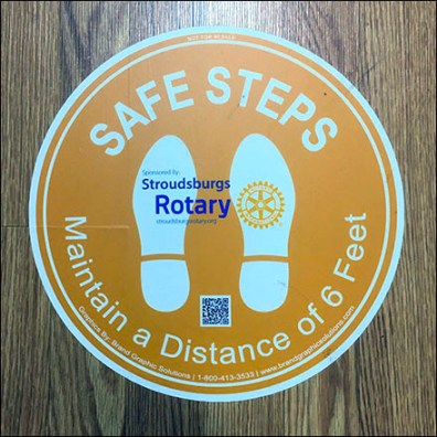 CoronaVirus Rotary-Club Safe-Steps Floor Graphic