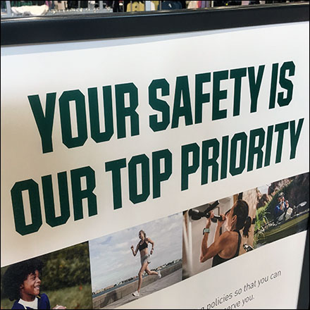 Dick's CoronaVirus Safety Top Priority Notice