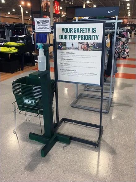 Dick's CoronaVirus Safety Top Priority Notice