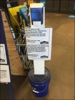 CoronaVirus Do-It-Yourself Sanitizer Stand