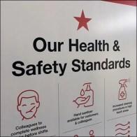 Macy's CoronaVirus Health Entry Sign