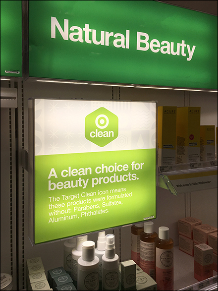 Natural Beauty Clean Choice Display
