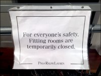 Ralph Lauren CoronaVirus Fitting Room Closed