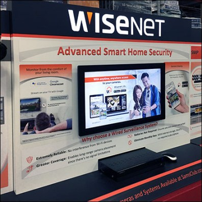 WiseNet Security Pallet Rack Display