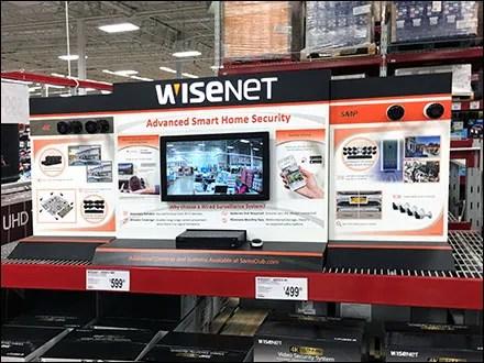 WiseNet Security Pallet-Rack Display
